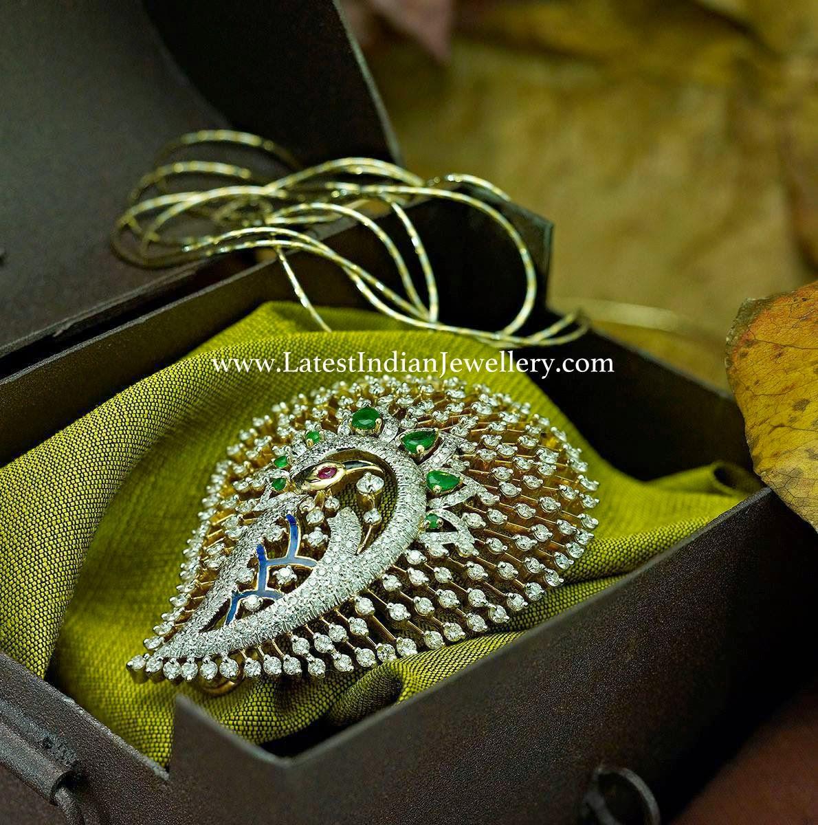 Fancy Designer Diamond Pendant