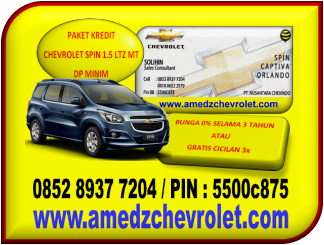 PAKET KREDIT CHEVROLET SPIN 1.5 LTZ MT DP MINIM