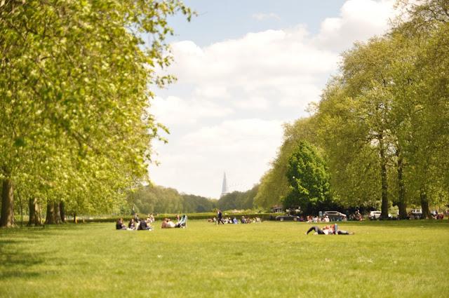 sunny days in london