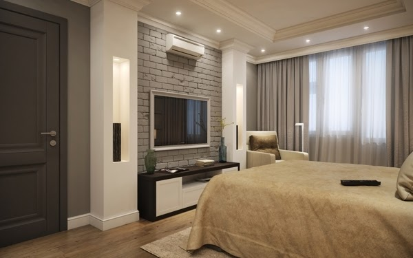 Bedroom Small Space Design small apartment interior design in moscow - 60 sq.m