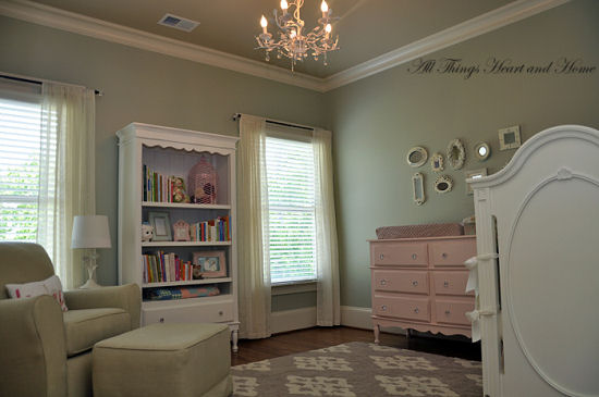Gray And Pink Shabby Chic Style Nursery Makeover For A Baby Girl