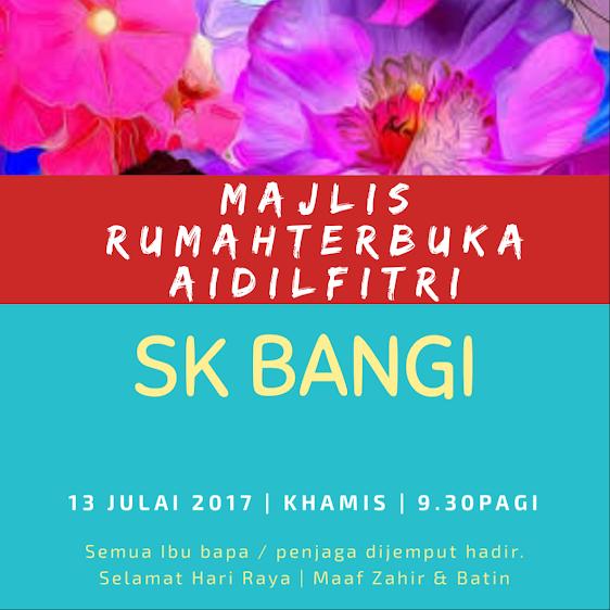 MAJLIS RUMAH TERBUKA SK BANGI