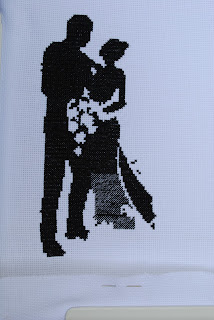 Wedding Silhouette Sampler Cross Stitch WIP Work in Progress