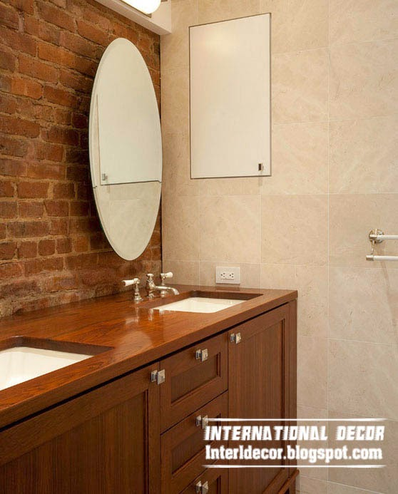 brick wall designs, Brick in the wall, interior brick wall in bathroom