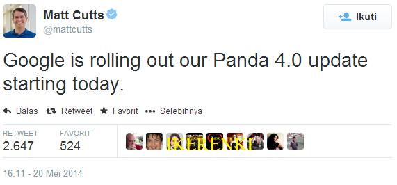 Google Panda Update 4.0 Meningkatkan Secara Optimal Lagi Kawan-Kawan