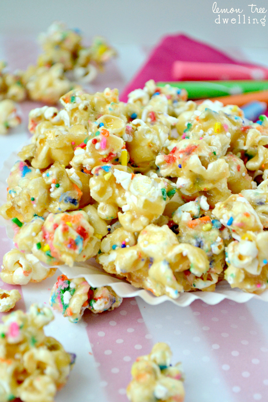 Birthday Cake Caramel Corn Lemon Tree Dwelling