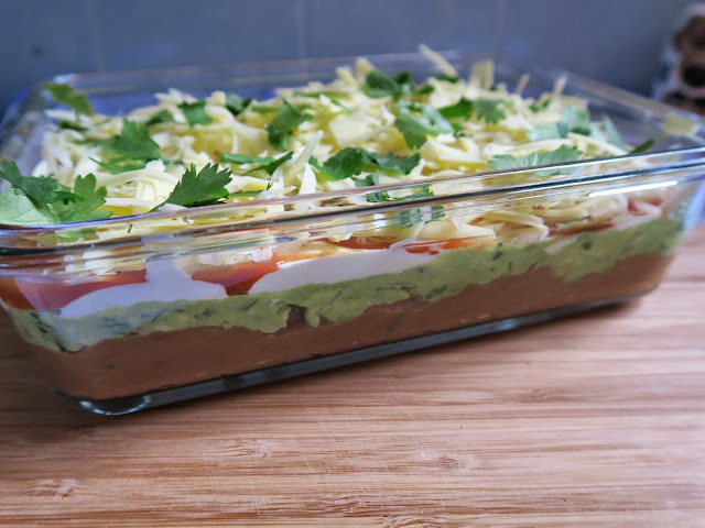 Mexican Layered Dip by Salt Sugar and i
