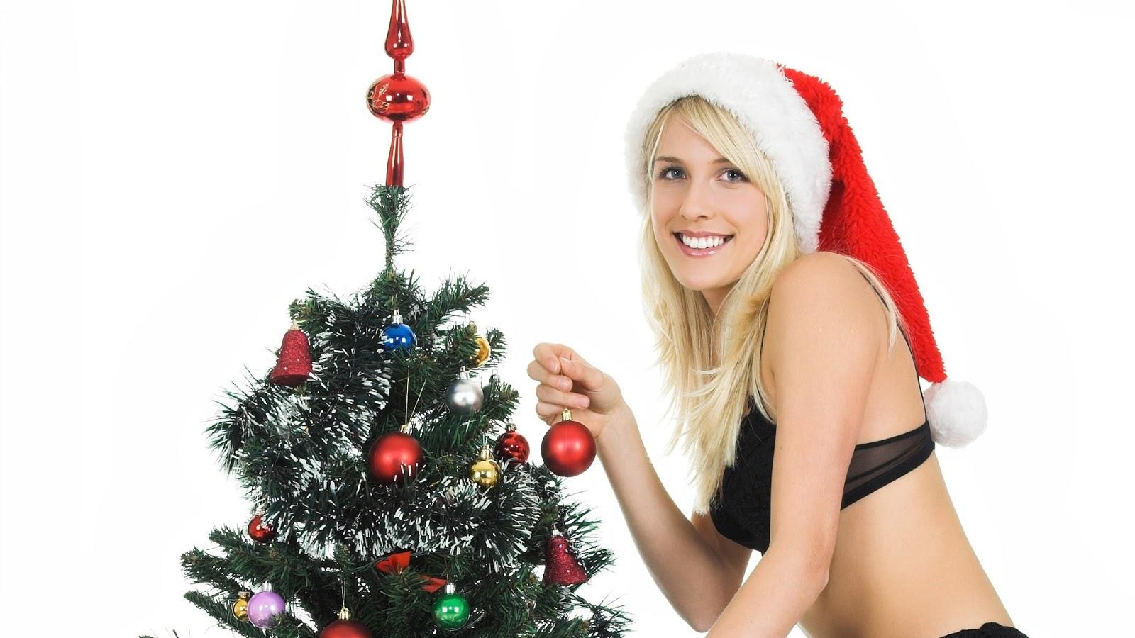 Full HD Girls Happy Christmas Wallpapers 1920x1080