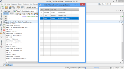 Detect mouse click on JavaFX TableView and get the details of the clicked item