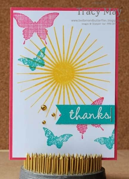 stampin up uk independent demonstrator Tracy May kinda eclectic brights rubber stamps