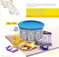 Tupperware one touch topper 1.4 ltr turkish colllection