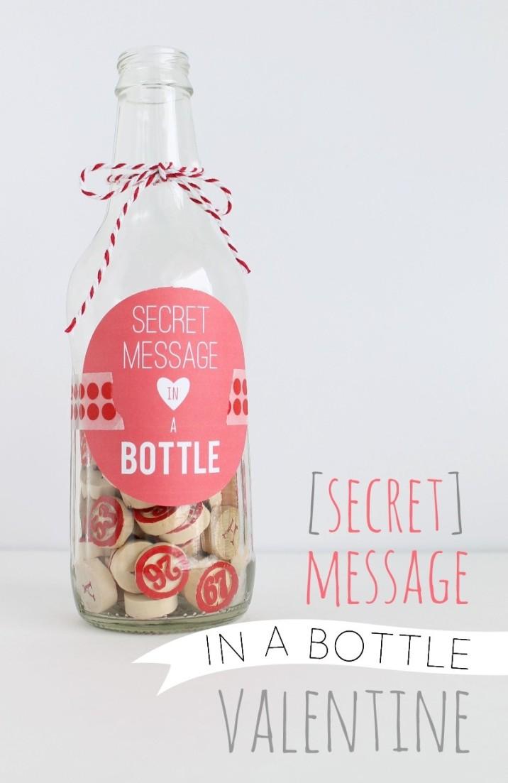 Secret} Message in a Bottle Valentine - My Sister\'s Suitcase ...