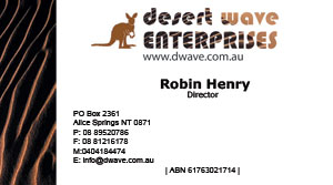 desert wave enterprises business card robin henry