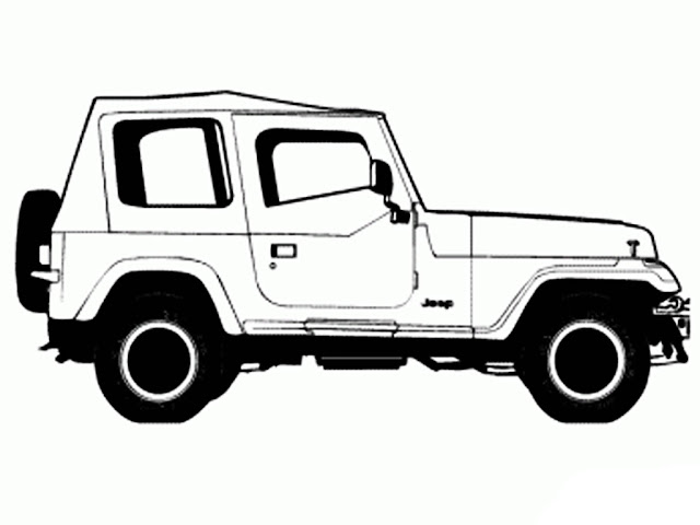 printable Jeep Wrangler 2015 coloring pages