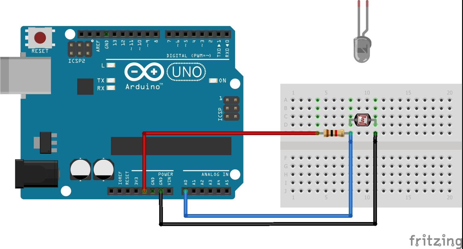 Easy Mades Arduino Seven Segments Counter 3 In One Circuit Digram Connecting Led And Ldr If You Want To Count Number Of Visitors Then Can Use The Following Diagram Light A Laser Focus Face