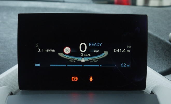 BMW i3 instrument panel