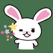 토끼 '모피' 애니메이션 스티커