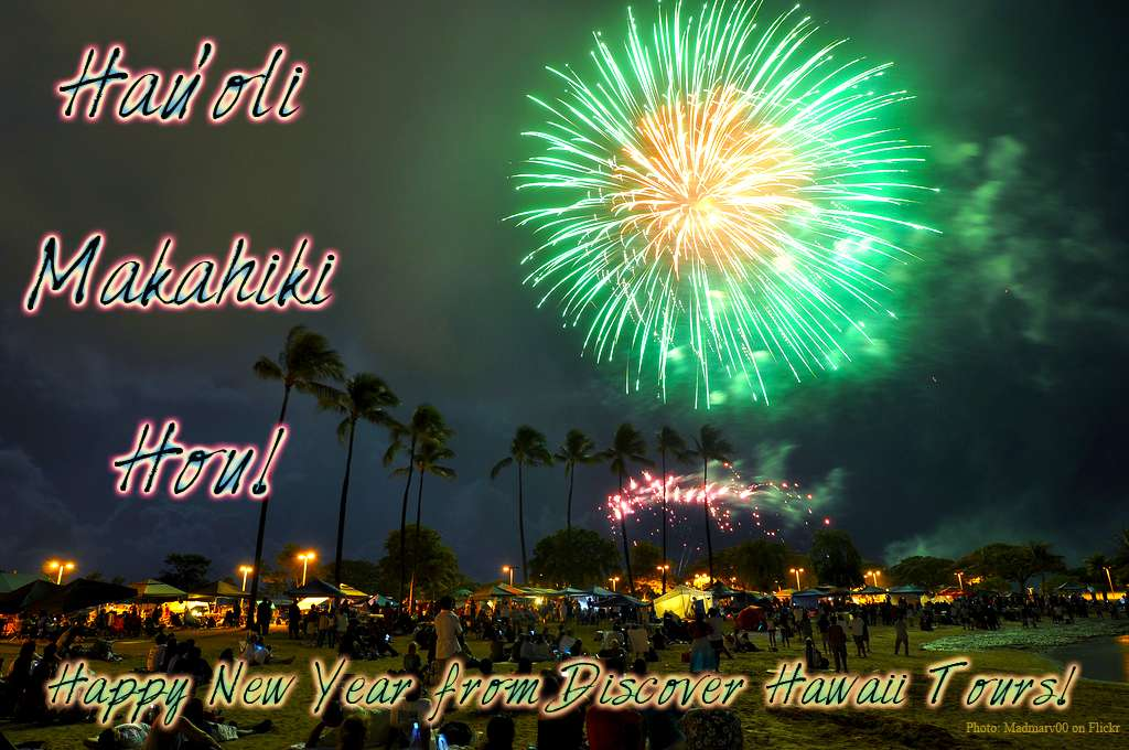 happy new year and merry christmas in hawaiian