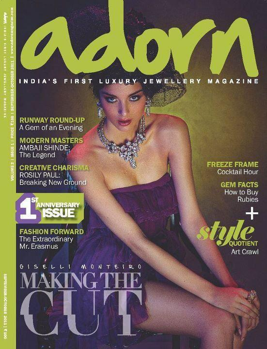 Giselli Monteiro  - Giselli Monteiro on Adorn Magazine Cover September 2011 Issue