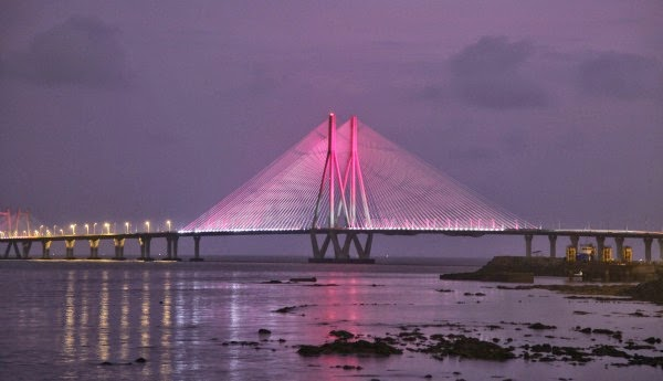 Bandra Worli Sea Link night view