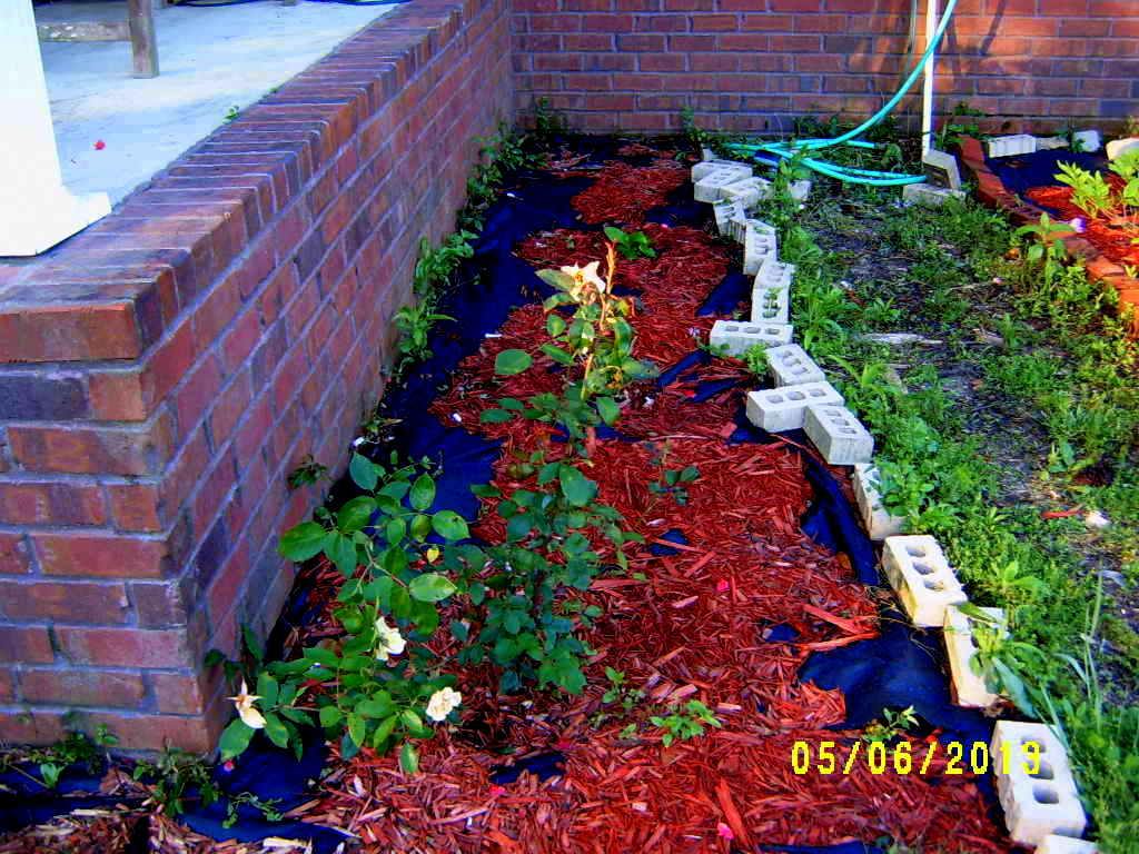 Stop weeds in flower beds -  Picked Up Out Of The Year Against The Edge To Stop Those Weeds From Popping Out This Will Be On The Water Timer The Same Line As The Mexican Heather