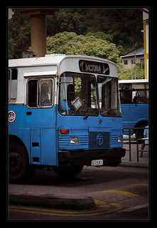 Tata bus in Seychelles