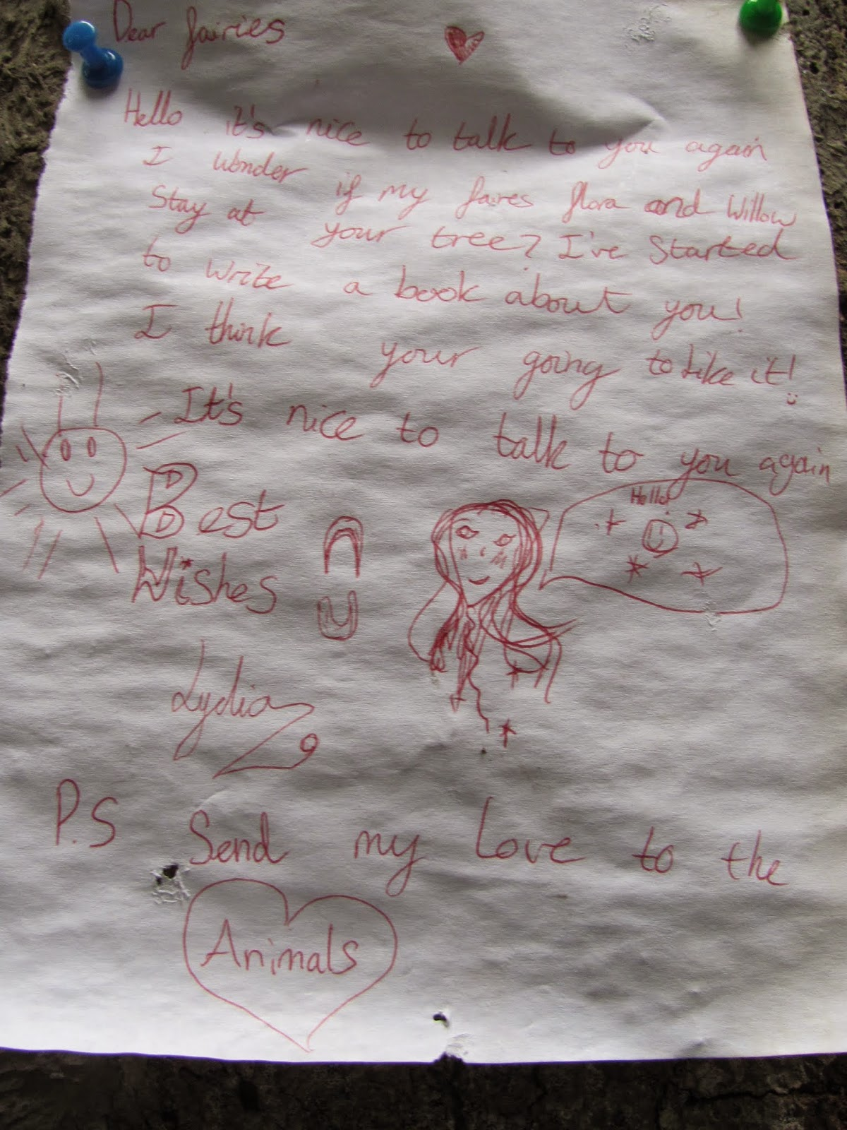 A Letter to the Fairies at the Fairy Tree Marlay Park Dublin, Ireland