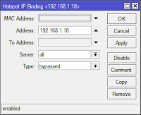 configure ip binding at mikrotik hotspot
