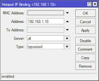 configure ip binding at mikrotik hotspot