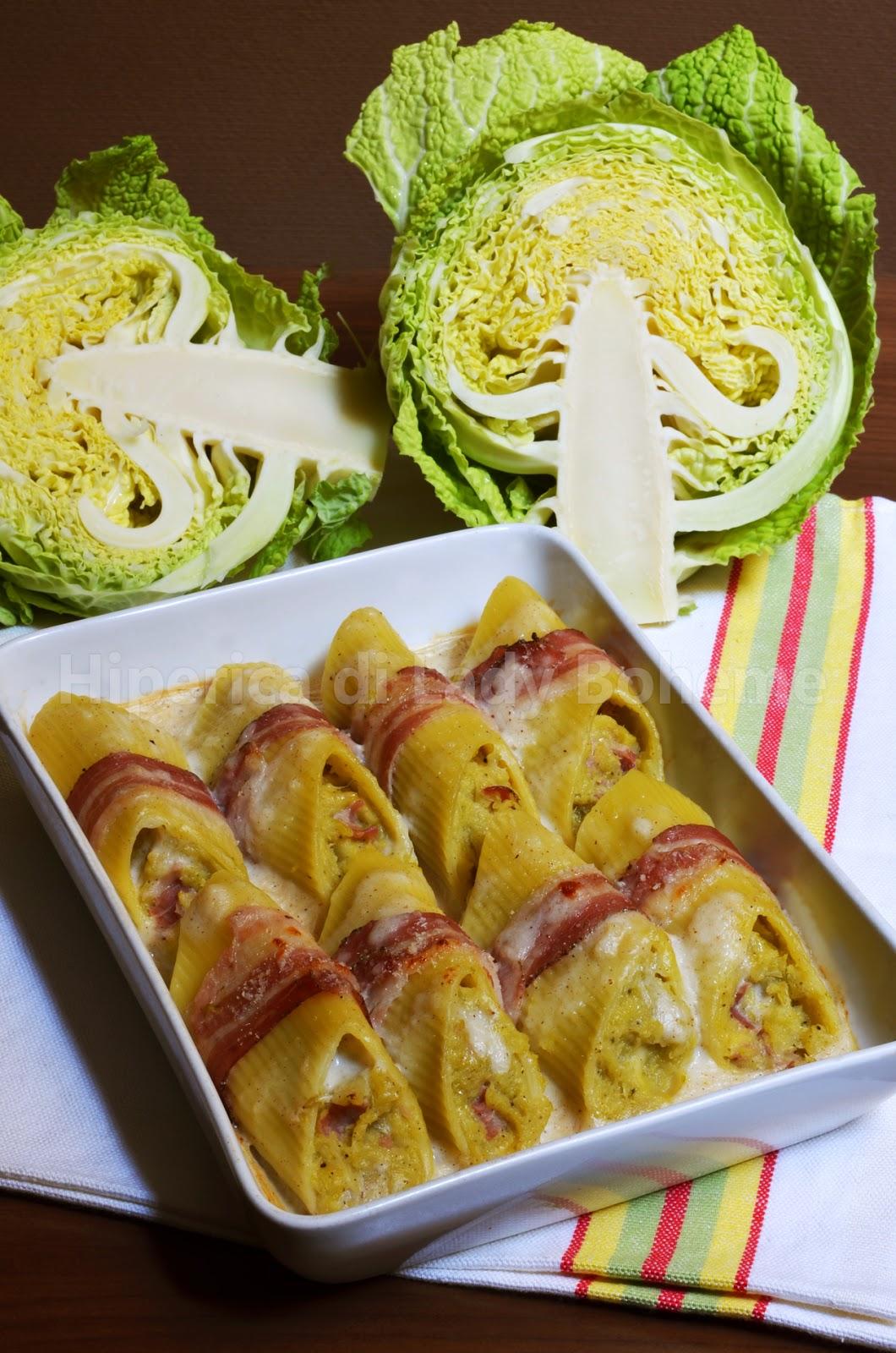 hiperica_lady_boheme_blog_di_cucina_ricette_gustose_facili_veloci_pennoni_ripieni_con_cavolo_verza_leerdammer_e_pancetta_1
