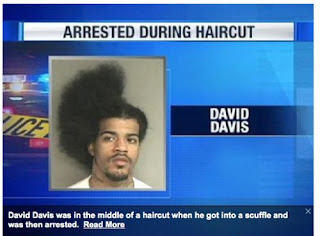 wtf arrested during haircut, wtf haircut, just arrested, arrested pictures
