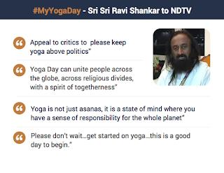 Sri Sri Ravishankar's appeal to keep Yoga away from politics