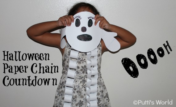 Halloween Paper Chain Countdown