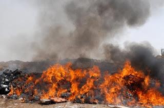 Burning Wastes