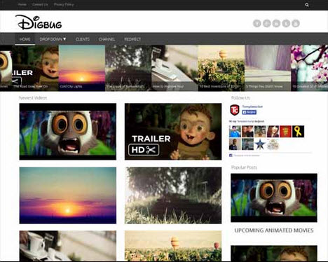 Digbug Free Blogger Template