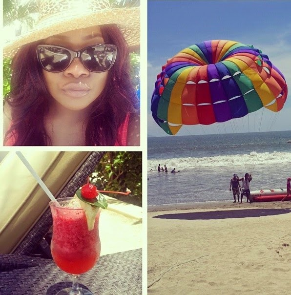 Toolz Zip-lines While On Vacation With Her Lover In Mexico – Photos