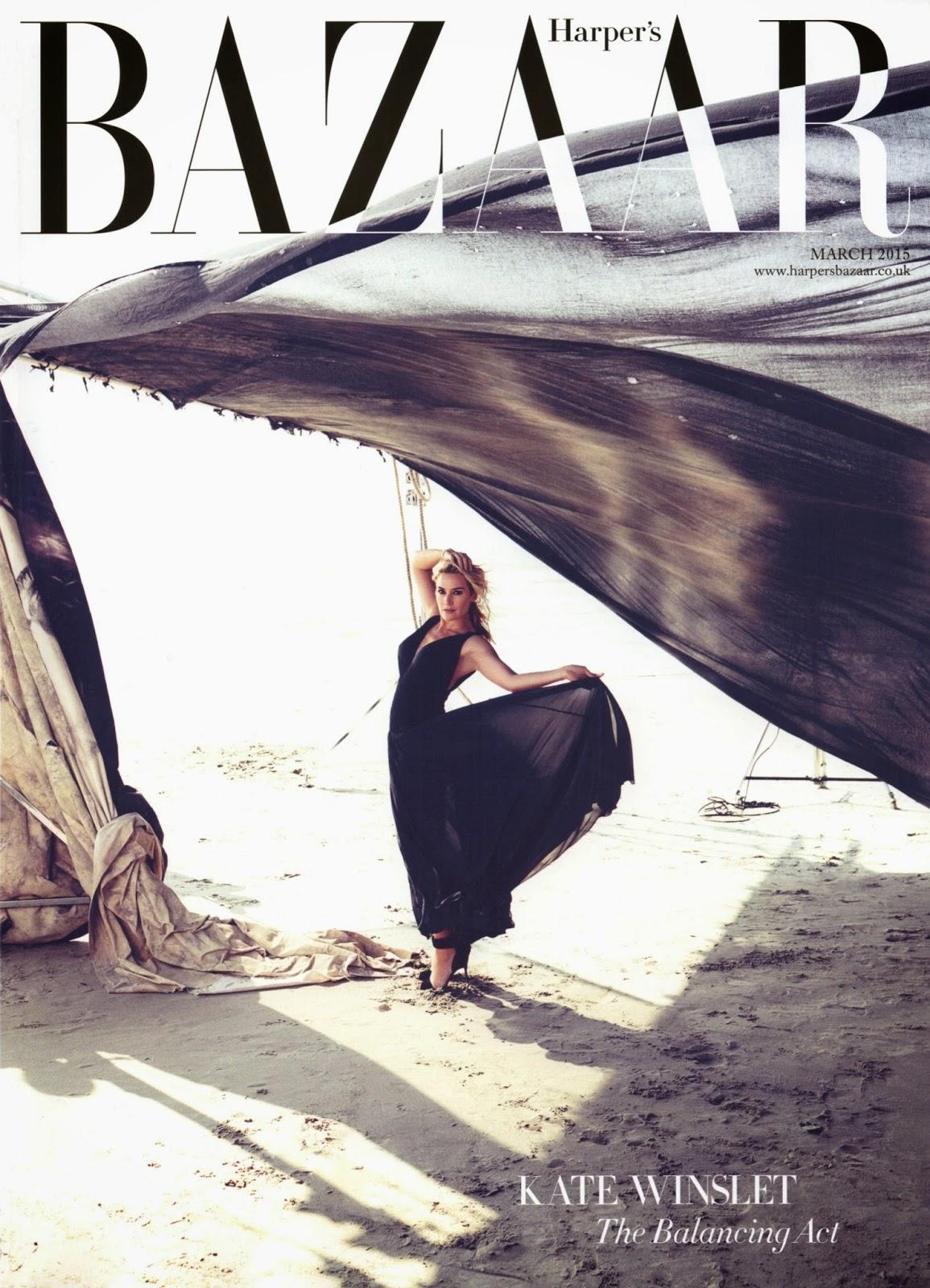 Actress , Soundtrack,singer: Kate Winslet for Harper's Bazaar UK