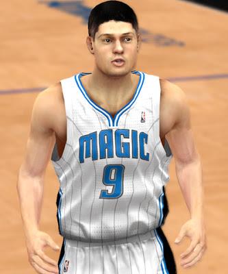 NBA 2K13 Nikola Vucevic Cyber Face Mod