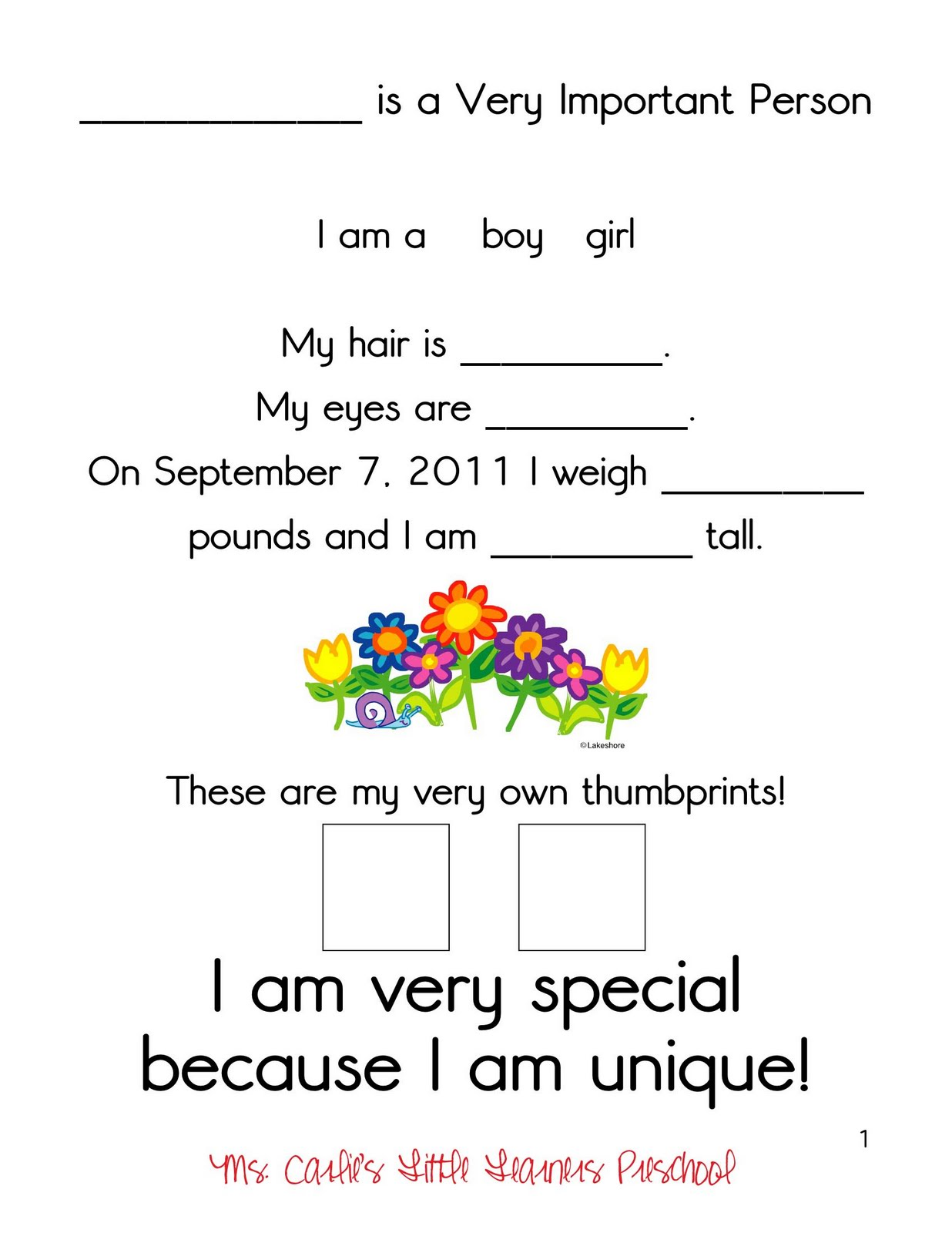 Home » Worksheet » All About Me Free Printable Worksheet