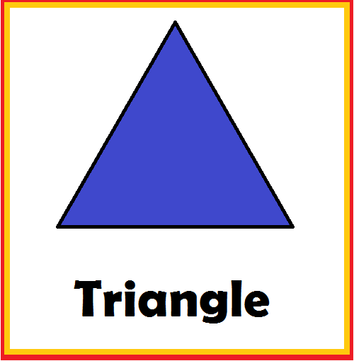 Kindergarten Worksheets: Shapes Flashcards - Triangle