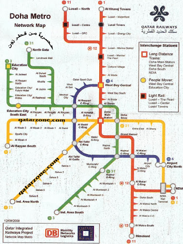 Doha metro network map