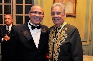 Eliseu Lemos Padilha com Fernando Henrique na Academia Brasileira de Letras