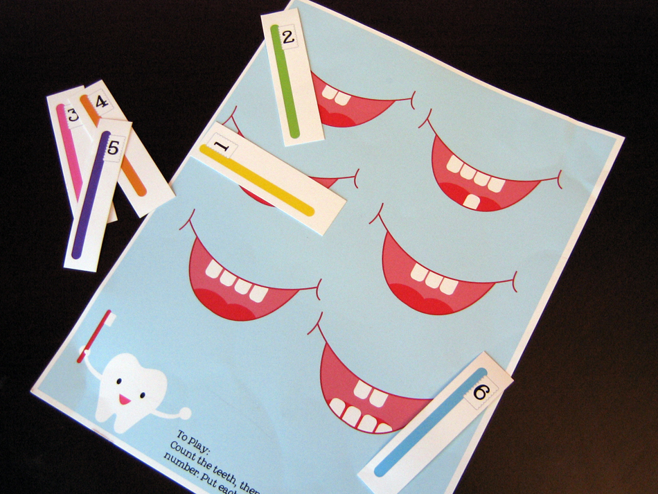 preschool dental health activities bitsycreations free preschool tooth counting printable 125