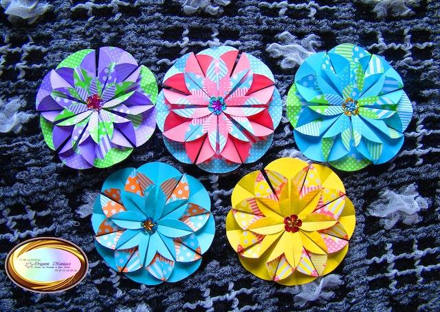 Origami Maniacs Scrapbook And Origami Flower Dahlia