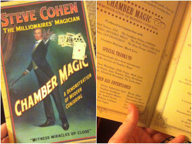Steve Cohen Chamber Magic playbill New York