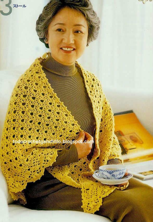 capa crochet con moldes