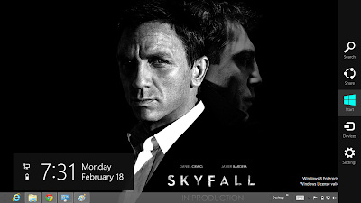 James Bond Sky Fall Windows 8 Theme