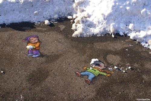 17-Winter-Revenge-Artist-David-Zinn-Chalk-Street-Art-www-designstack-co
