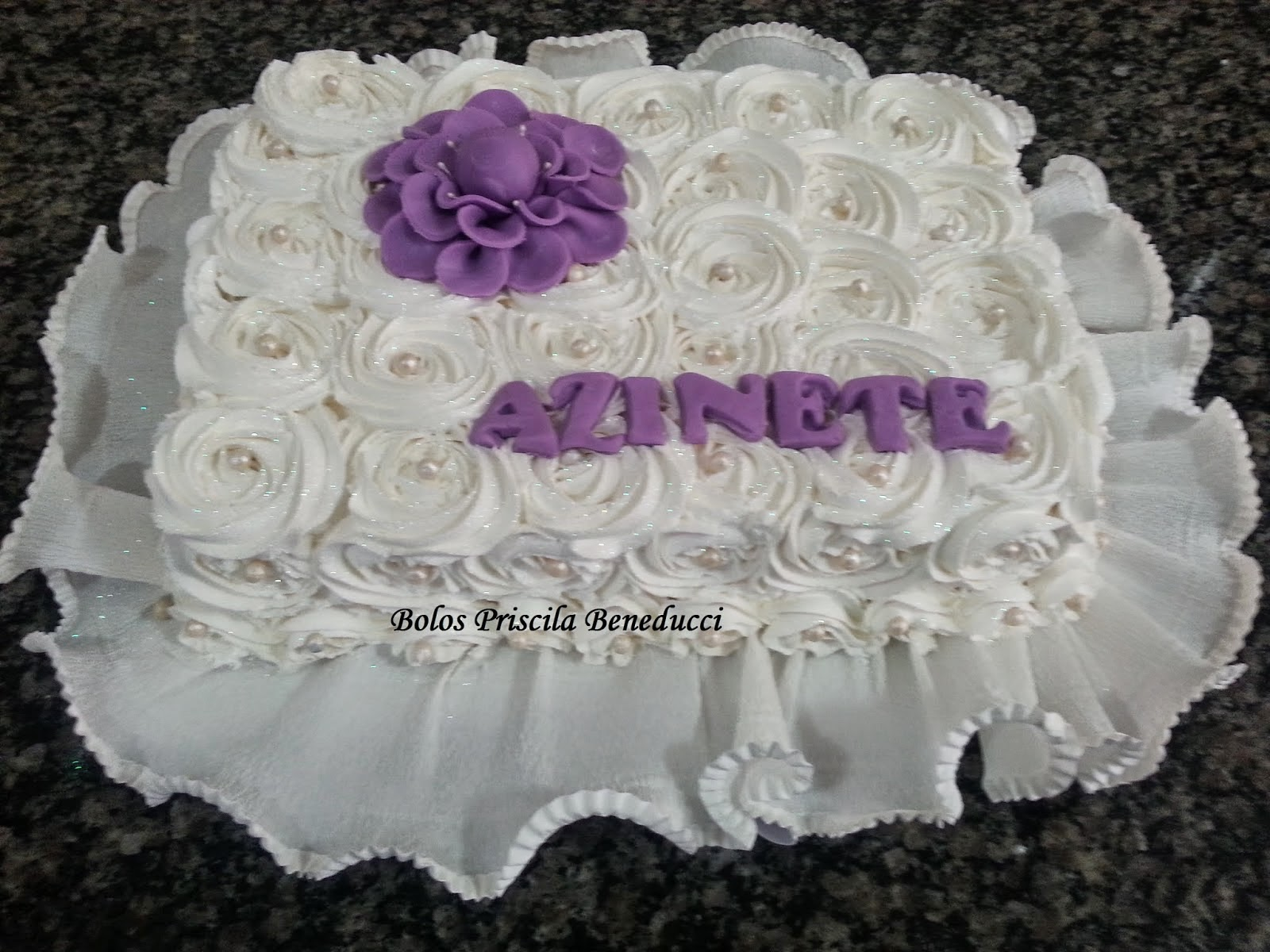 Bolo Roses - Dona Azinete