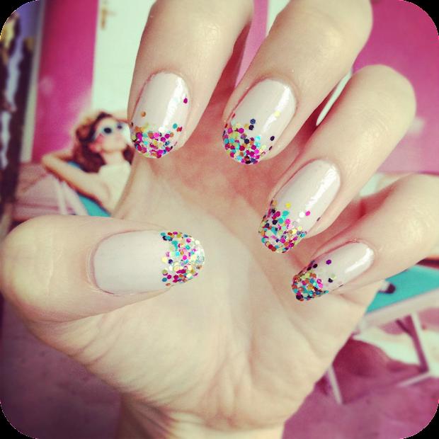 simple glitter fade nail art diy